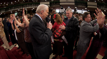 Jimmy Swaggart Ministering at Family Worship Center
